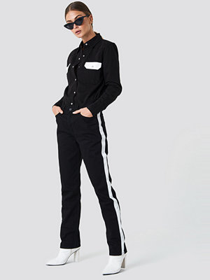 Calvin Klein HR Straight Taped Denim Pants