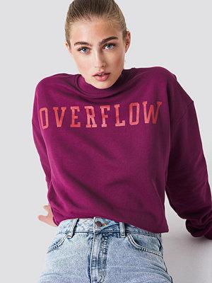 NA-KD Overflow Sweatshirt röd