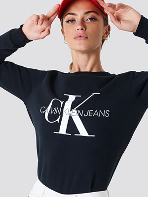 Calvin Klein Core Monogram Logo Sweatshirt svart