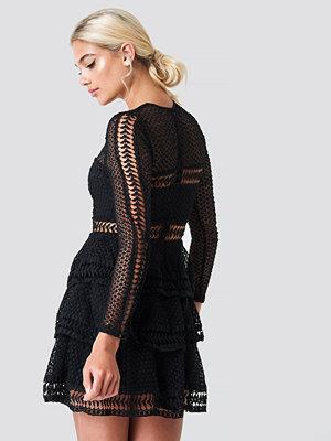 Linn Ahlborg x NA-KD Crochet Dot Dress - Festklänningar