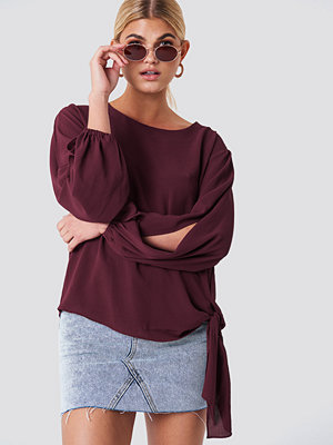 Rut & Circle Amera open Sleeve Blouse röd