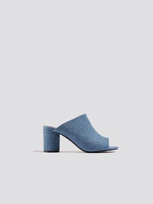 NA-KD Shoes Denim Mules - Högklackat