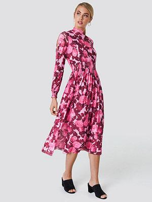 NA-KD Boho Mesh Open Sleeve Dress - Maxiklänningar