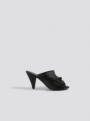 NA-KD Shoes Bow Detail Mule Heels svart