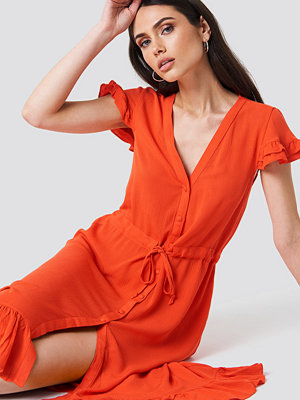 Trendyol Asymmetric Button Detailed Maxi Dress - Midiklänningar