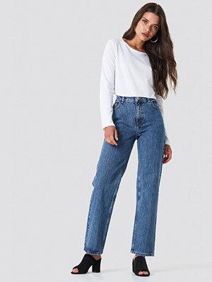 NA-KD Trend Front Pleat Jeans blå