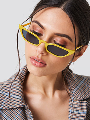 NA-KD Accessories Pointy Edge Retro Sunglasses gul