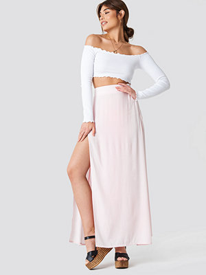 Debiflue x NA-KD High Side Slit Long Skirt - Maxikjolar
