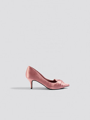 Pumps & klackskor - NA-KD Shoes Satin Court Shoes rosa