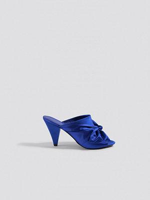 NA-KD Shoes Bow Detail Mule Heels blå