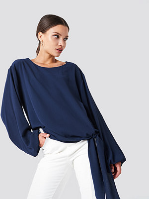 Rut & Circle Amera open Sleeve Blouse blå