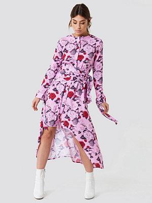 NA-KD Trend Tie Detail Asymmetric Dress - Midiklänningar