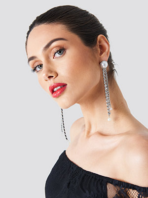 Trendyol Hanging Rhinestone Earrings - Smycken