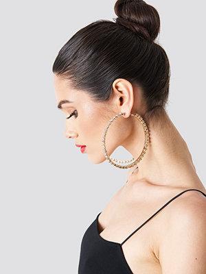 Trendyol Large Rhinestone Earrings - Smycken