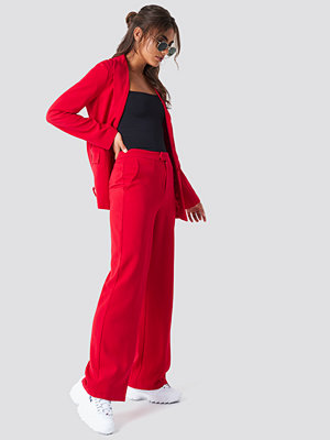 NA-KD Classic röda byxor Wide Leg Tailored Pants röd