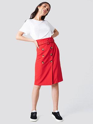 Trendyol Button Detailed Midi Skirt - Midikjolar
