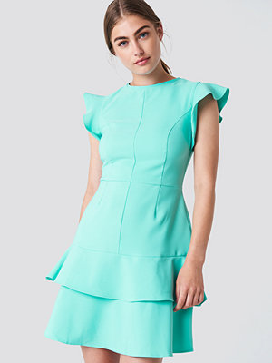 Trendyol Flounce Shoulder Mini Dress blå