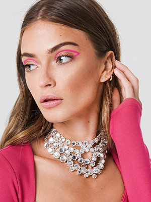 Galore x NA-KD Layered Rhinestone Necklace - Smycken