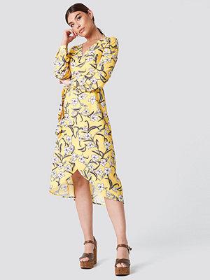 Rut & Circle Flower LS Wrap Dress - Midiklänningar