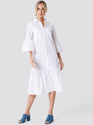 NA-KD Boho Bell Sleeve Shirt Dress - Midiklänningar