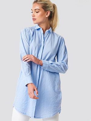 Mango Lines Shirt blå