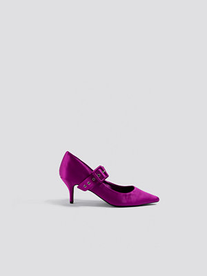 Pumps & klackskor - NA-KD Shoes Satin Buckle Pumps lila