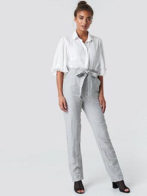 Mango Paper Trousers - Kostymbyxor ljusgrå