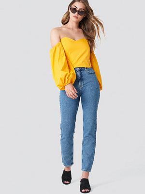 NA-KD Branded Jeans blå