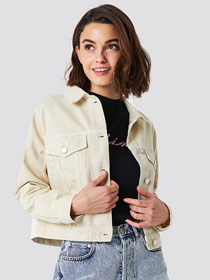 NA-KD Beige Denim Jacket beige