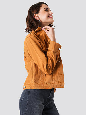 NA-KD Regular Denim Jacket orange
