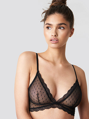 NA-KD Lingerie Dotted Mesh Triangle Bra - BH:ar