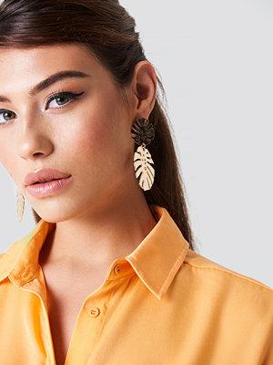 NA-KD Accessories Monstera Leaves Earrings - Smycken