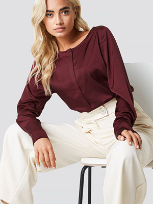 Rut & Circle Front Placket Blouse röd
