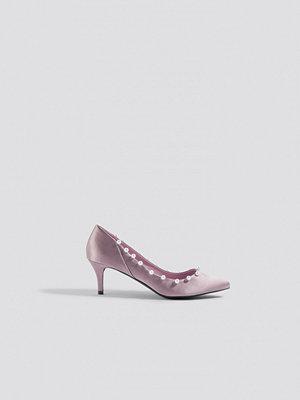 NA-KD Shoes Pearl Detail Pumps - Högklackat
