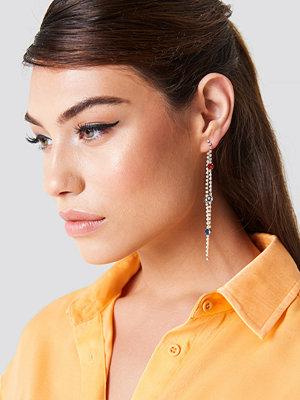 NA-KD Accessories Rhinestone Back Chain Earrings - Smycken