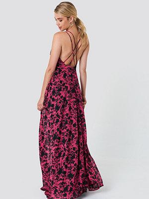 Trendyol Flower Printed Maxi Dress - Maxiklänningar