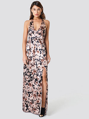 Trendyol Multi Flower Patterned Maxi Dress brun