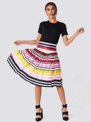 Trendyol Multicolored Strapless Knitted Skirt - Midikjolar