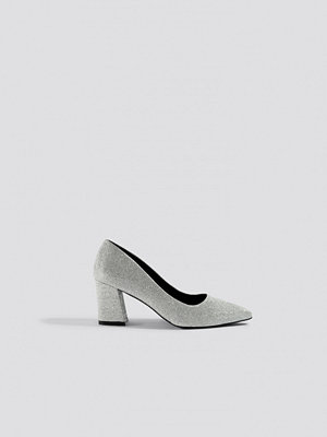 Pumps & klackskor - NA-KD Shoes Sparkling Block Heel Pumps silver
