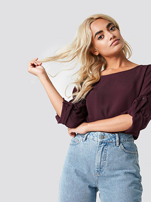 Rut & Circle Roll Up Blouse lila