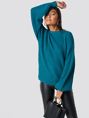 NA-KD Dropped Shoulder Knitted Sweater grön