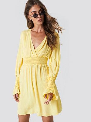 Trendyol Elastic Waist LS Dress gul