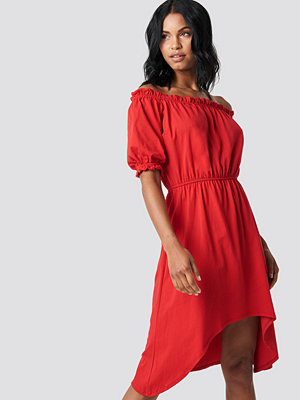 Trendyol Asymmetric Knitted Dress - Off Shoulder Klänningar
