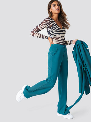 NA-KD Classic Wide Leg Tailored Pants - Kostymbyxor omönstrade