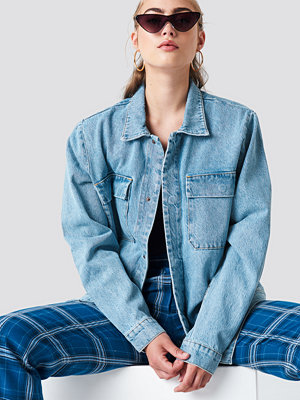 NA-KD Big Pocket Denim Jacket blå