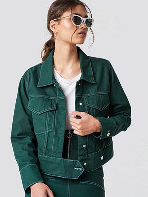 NA-KD Trend Contrast Seam Denim Jacket - Jeansjackor
