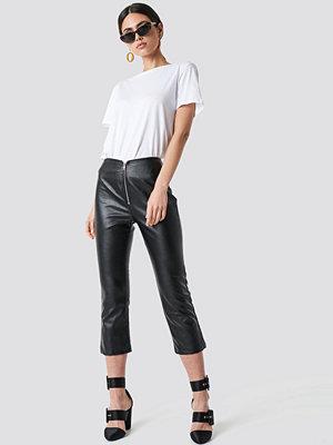 Motel Rocks Moto Pants - Skinn och mockabyxor svarta