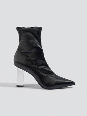 Pumps & klackskor - NA-KD Shoes Metallic Block Heel Sock Boots svart
