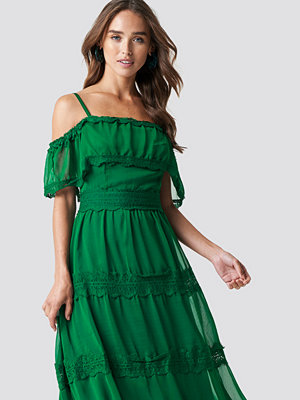 Trendyol Shoulder Strap Lace Midi Dress - Off Shoulder Klänningar