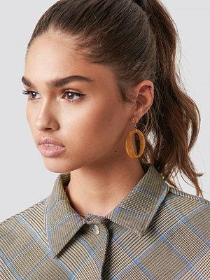 NA-KD Accessories Oval Stone Earrings - Smycken